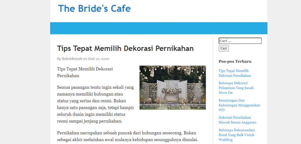 brides cafe