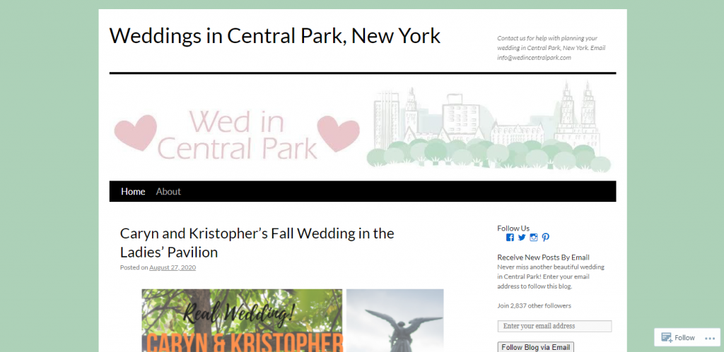 central park weddings
