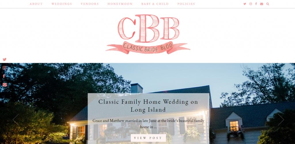 classic bride blog