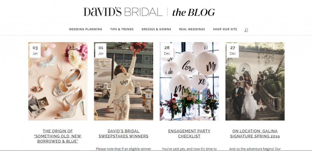 davids bridal blog