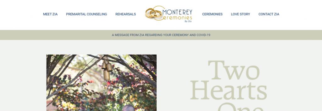 montery ceremonies