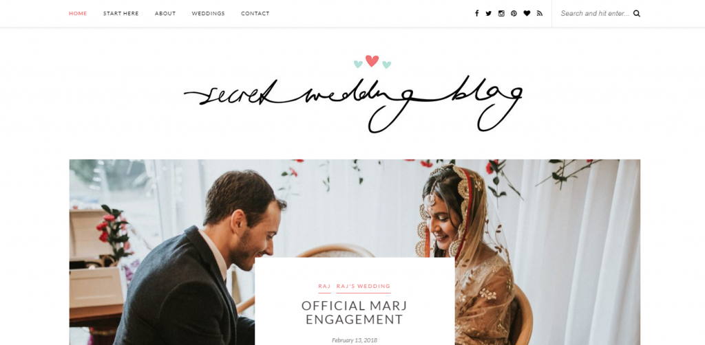 secret wedding blog