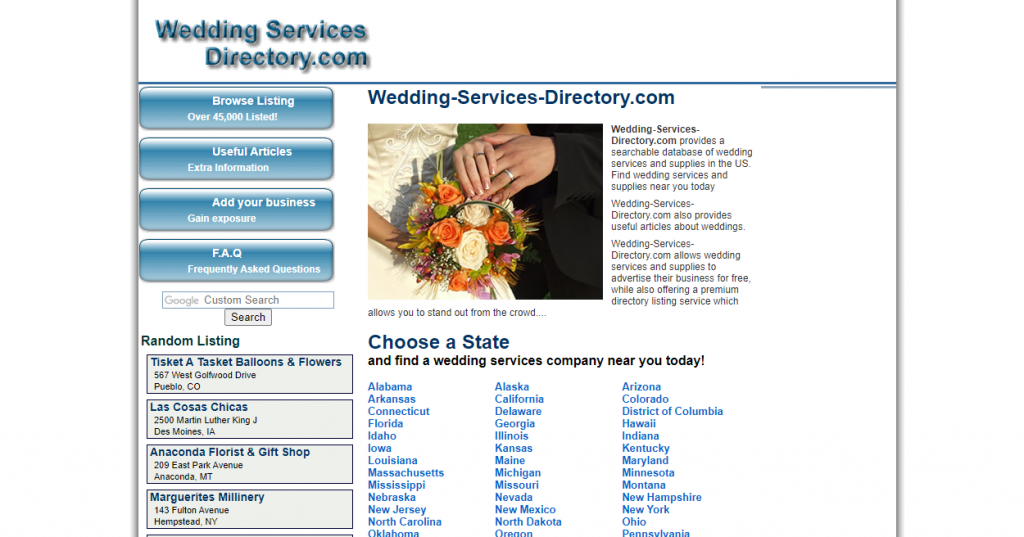 wedding services directory